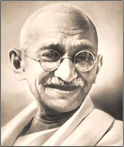 Citation du jour. - Page 7 Gandhi